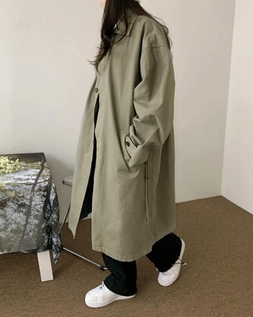 Lagen overfit maxi long single mac coat