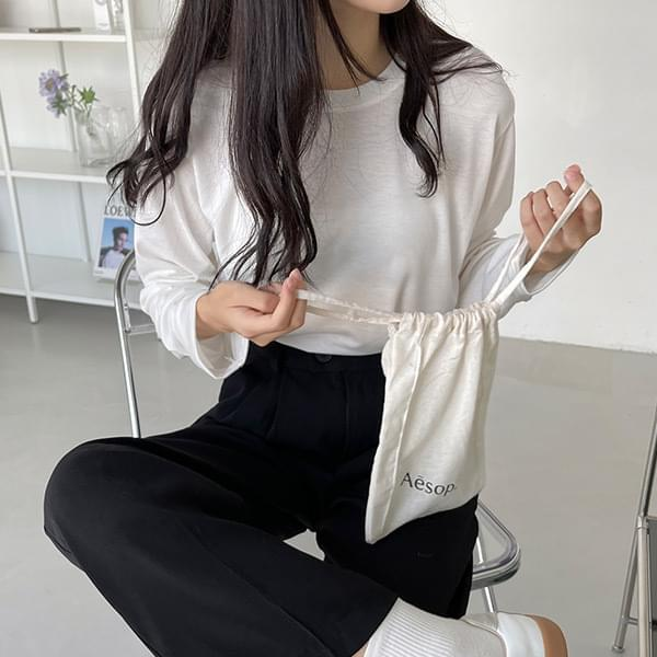 Now come out Basic Round Long Sleeve T-shirt - 3color