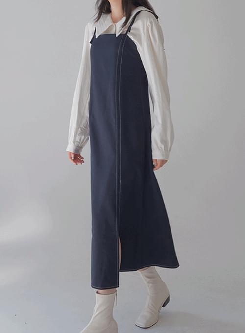 shawl strap stitch slim Dress