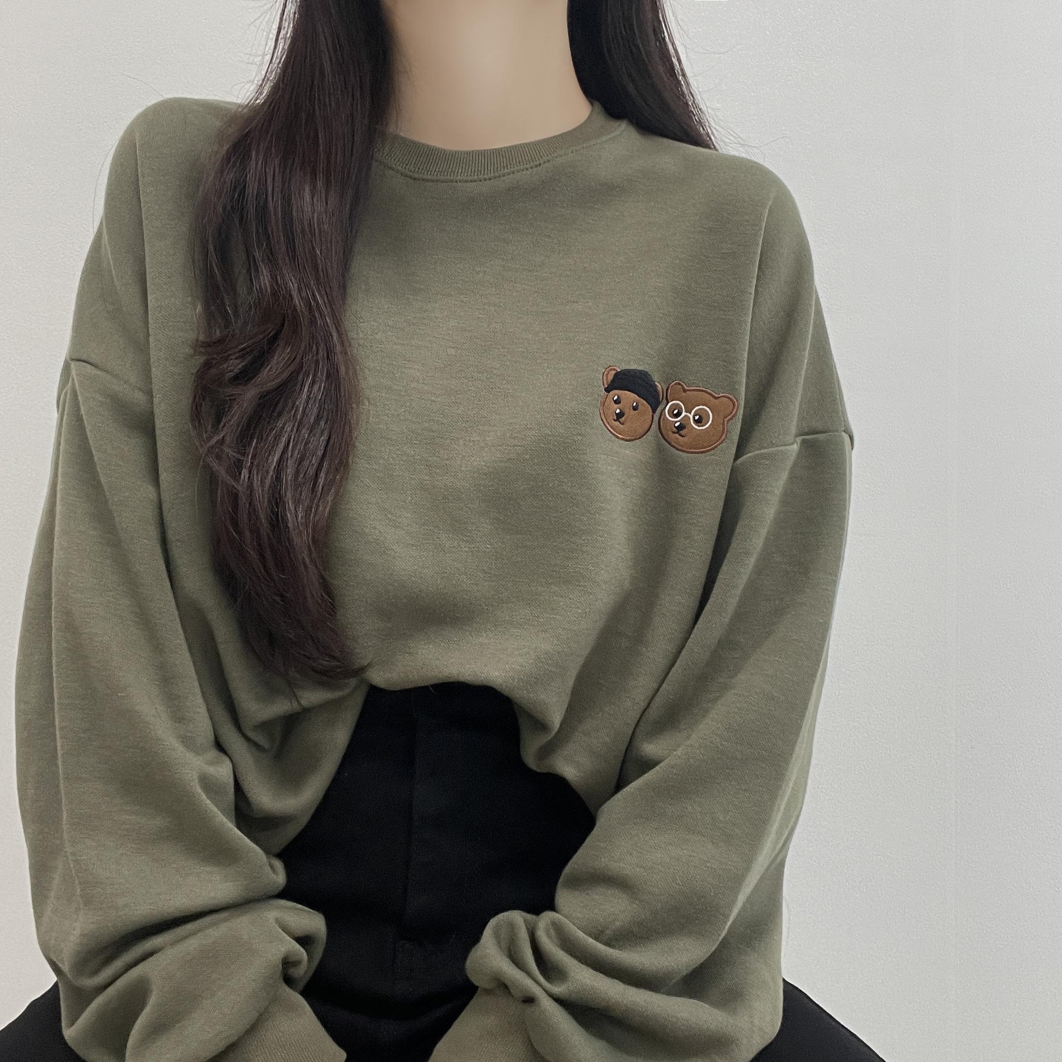 Twin Bear Round Sweatshirt