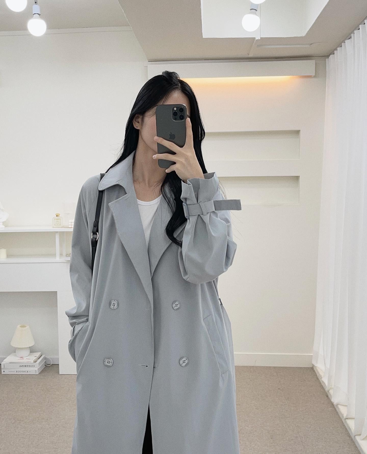 long door trench coat