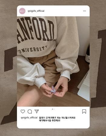 Big Stanford puff sleeve cropped Sweatshirt