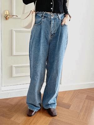 Judy Wide Pintuck Pants