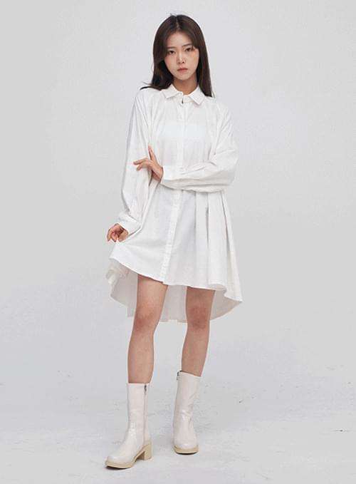 flared midi shirt Dress