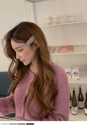 soft angora hairpin