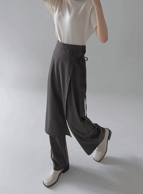 autumn wrap skirt pants