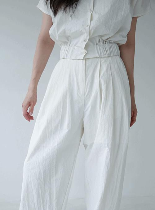 nylon pintuck pants