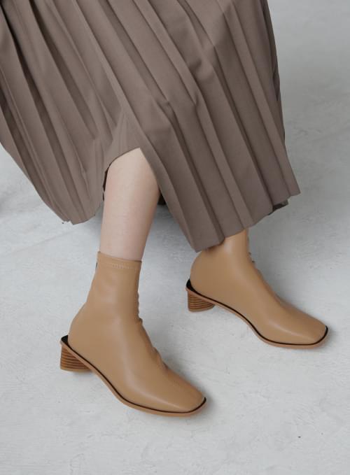 Wood Point Stitch Spandex Boots