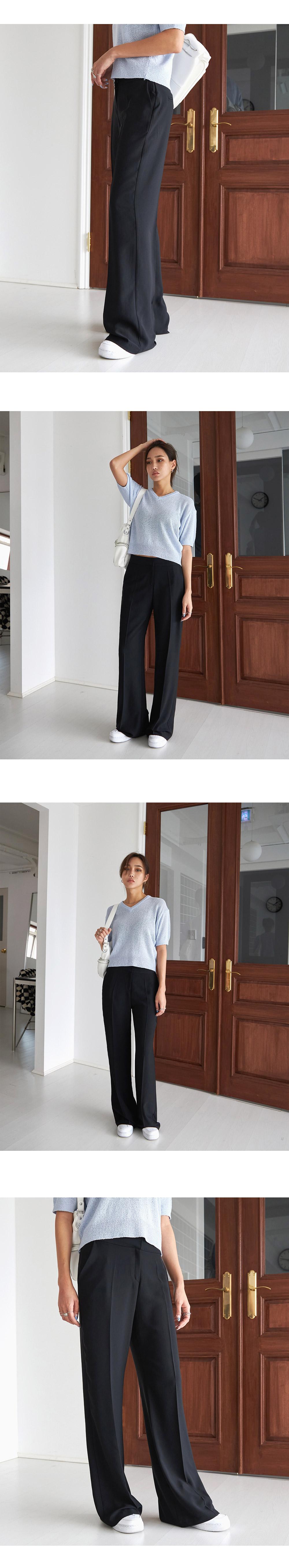 Flared long slacks