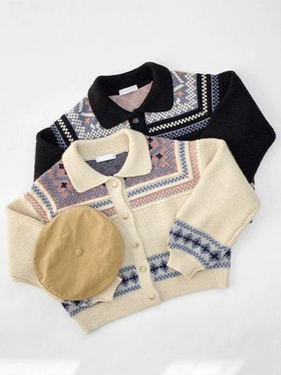 Denve Vintage Collar Cardigan