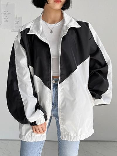 V color windbreaker Jacket