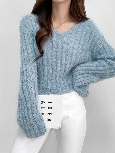 Badel V- V-Neck Knitwear