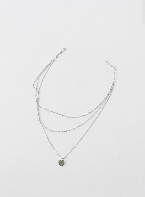 layered silver necklace
