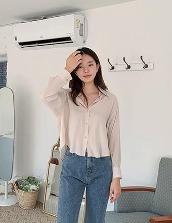 Glue*Silky Crop Shirt