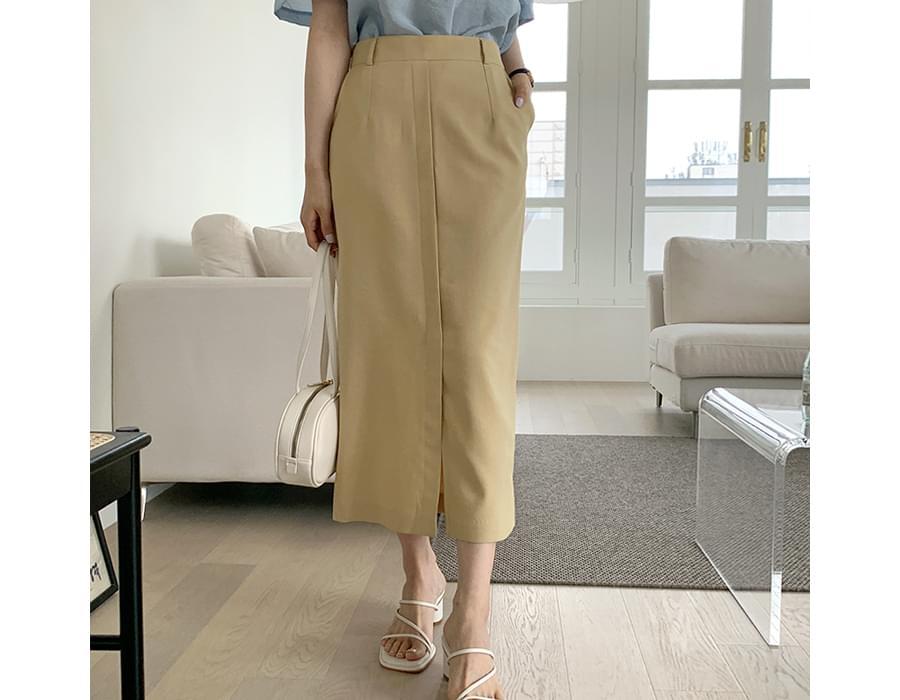 Luna slit H-line long skirt