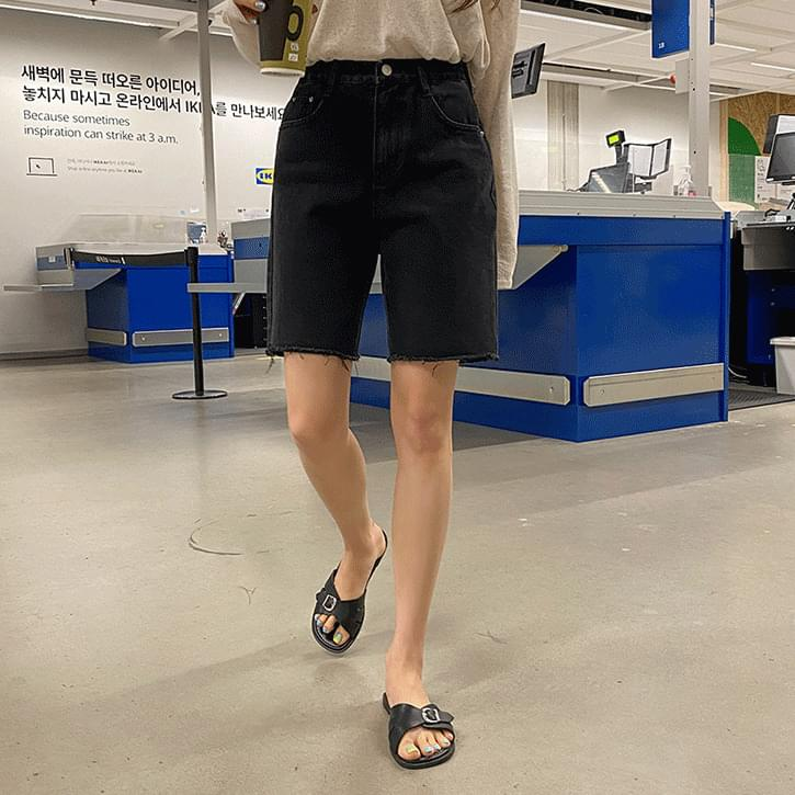 Billen cut 5 parts cotton pants