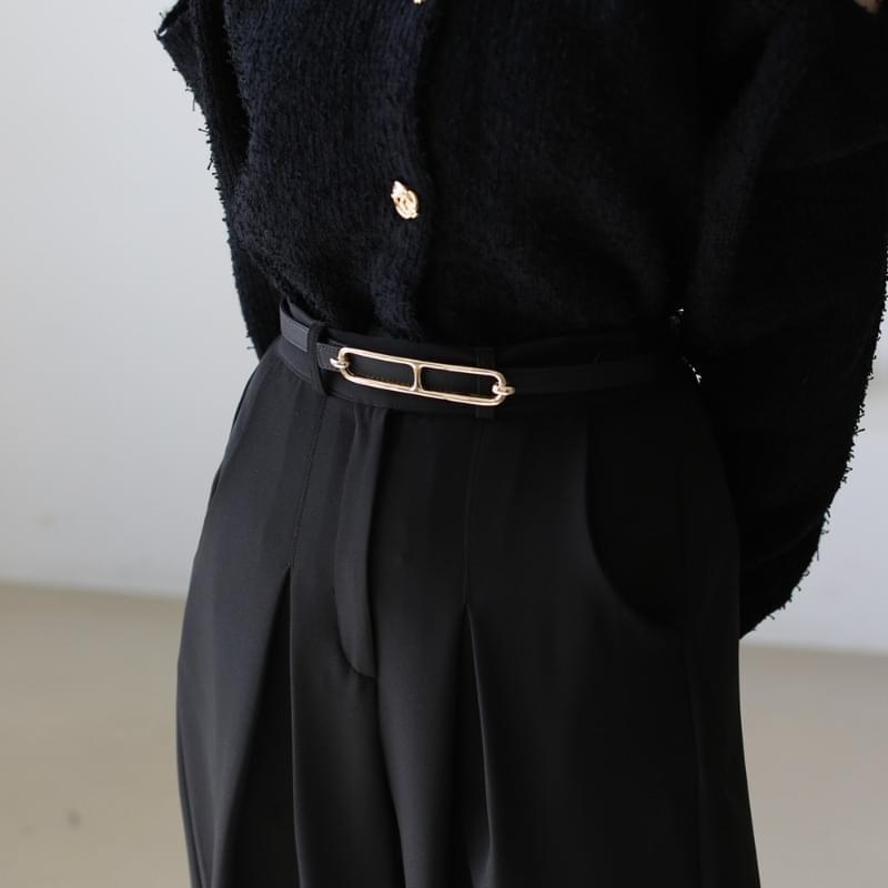 Klein leather belt