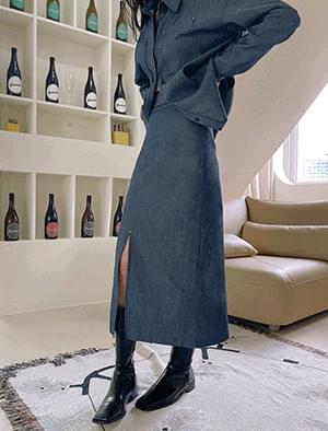 Boyne Stitch Denim Skirt