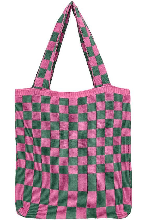 Espa Check Knitwear Tote Bag