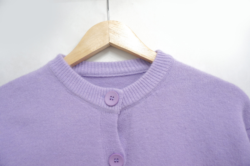 Cotton Candy Round Knitwear Cardigan