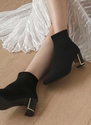 Fines Knitwear Socks Ankle Boots BSFBR4d228