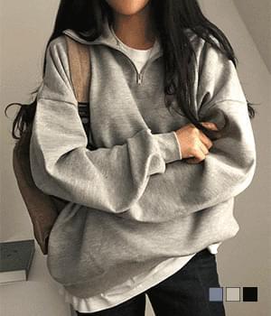 Soda Fleece-lined Zip Anorak Sweatshirt