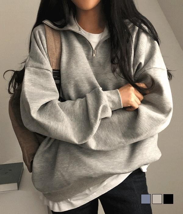 Soda Fleece-lined Zip Anorak Sweatshirt (Delayed delivery)