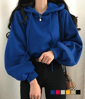 Default puff sleeve Fleece-lined hood