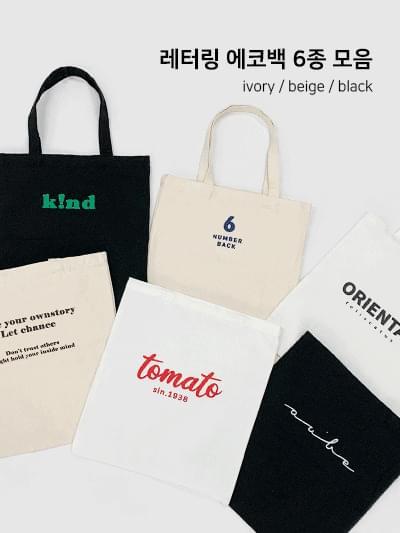 6 kinds of lettering eco bag