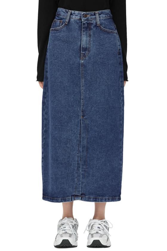 Roy Slit Denim Long Skirt
