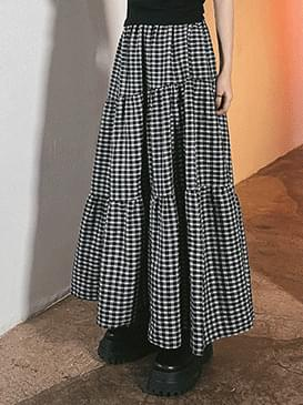 Check Rookie Long Skirt