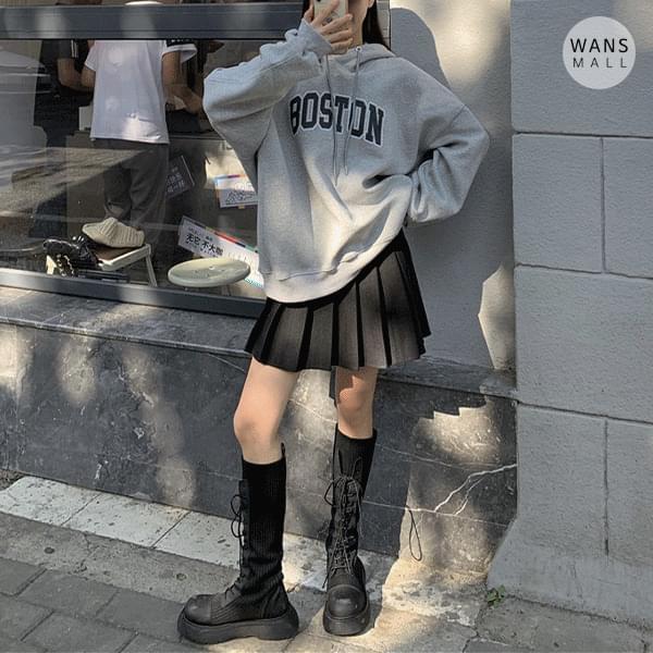 mh6502 boston loose Loose-fit hooded sweatshirt