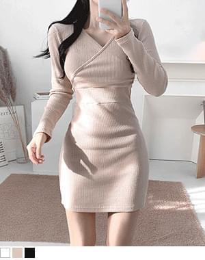 Soji wrap Ribbed Dress