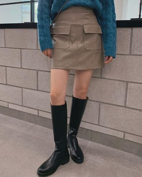 Silent Leather Skirt