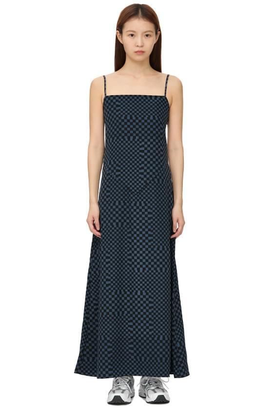 chess sleeveless long dress