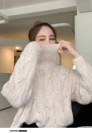 Sweet Cotton Candy Turtleneck Knitwear