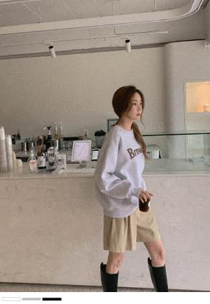Brown yam Fleece-lined Sweatshirt