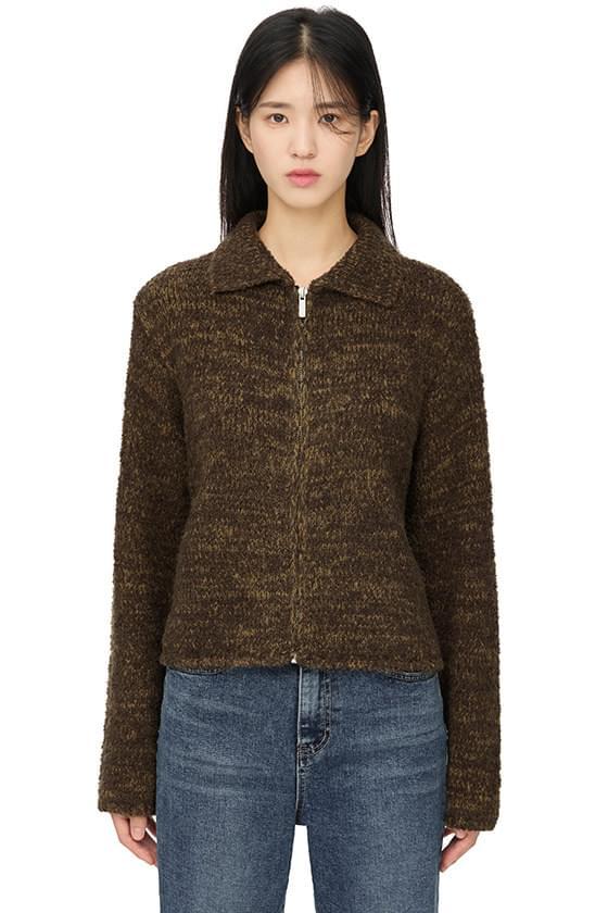 Department Mix Zip-Up Knitwear Cardigan
