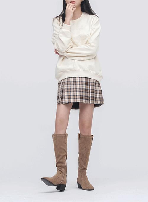 House Check Backband Skirt