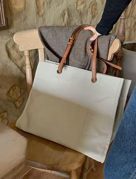 leather strap converse shopper bag