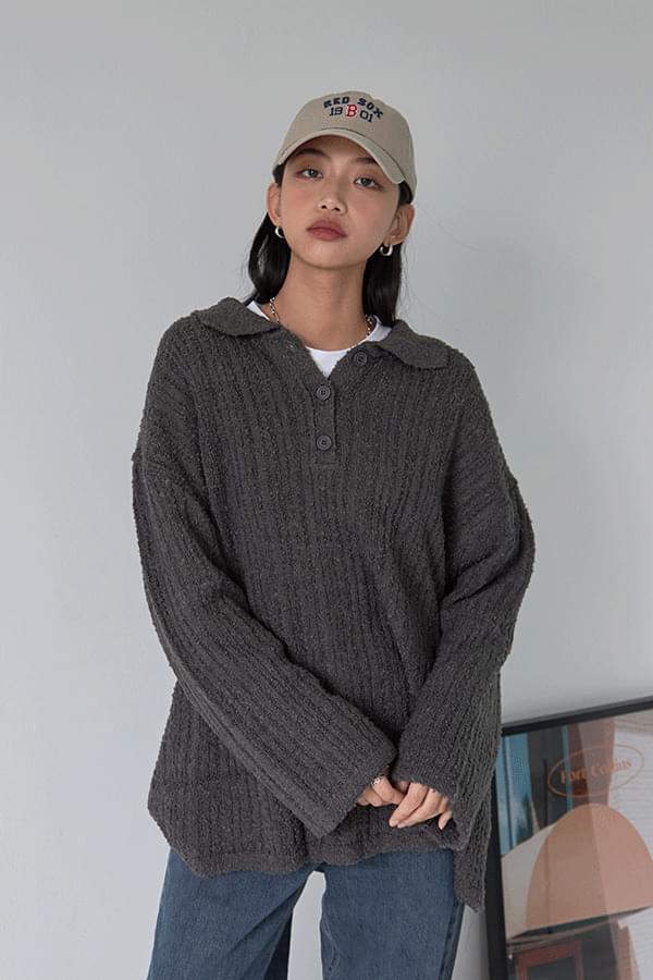Sharan Bookle Collar Knitwear
