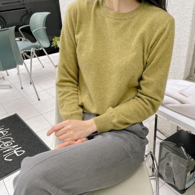 Daily Semi-Crop Wool Knitwear