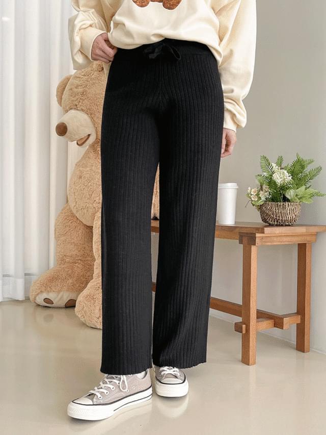 Big Size 26-40 Inch Thompson Knitwear Wide Banding Pants