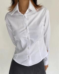 line slim tension long sleeve shirt