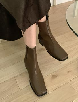 Modern Color Leather Ankle Boots