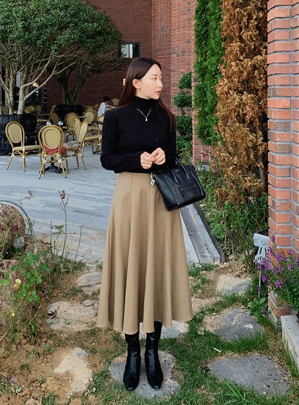 lime flare long skirt