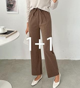 Poly String Straight Daily Pants #79305