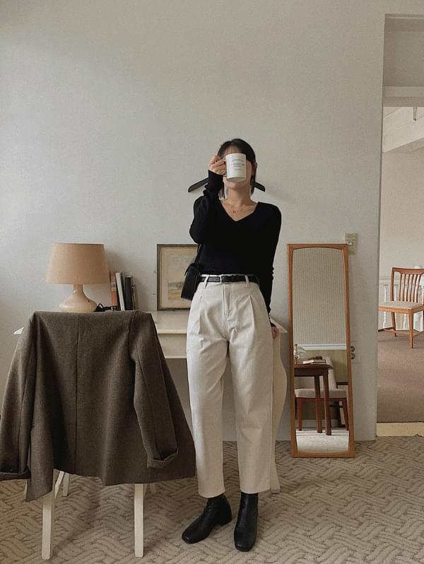 Paper Cotton Pants - 2color