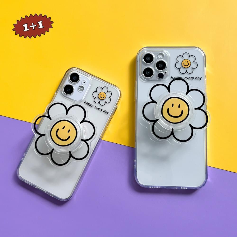 Everyday Daisy Smile Grip Talk Set iPhone Case