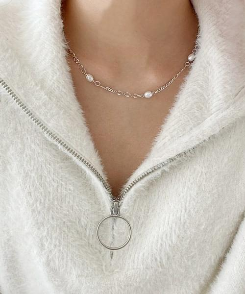 fancy pearl chain necklace